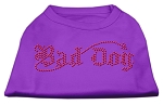 Bad Dog Rhinestone Shirts Purple XS
